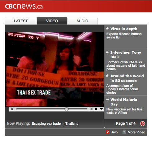CBC News report on NightLight Bangkok