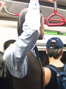 street style: on the subway, hong kong
