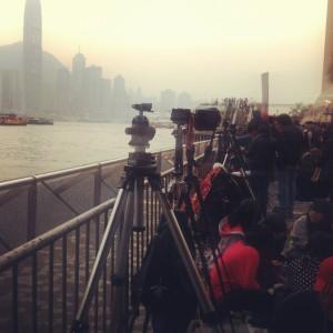 the row of photographers