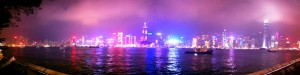 iPhone panoramic of Hong Kong Harbour