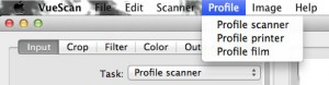 Menu: Profile Scanner