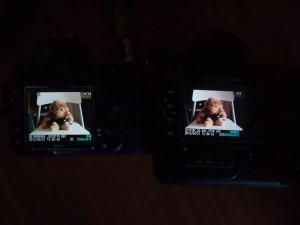 D800E (Left) - D3 (Right) - LCD Comparison