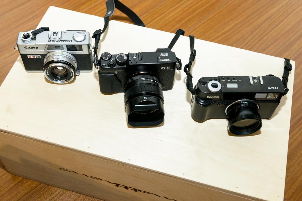 Canon Canonet | Fujifilm X-E1 w/ Fujinon 35mm f/1.4 | Konica Hexar AF