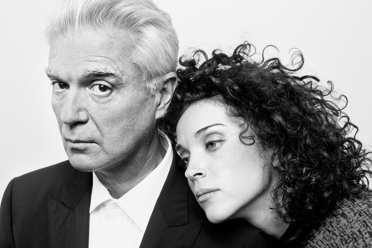 David Bryne and St. Vincent, photographed by Peter Hapak