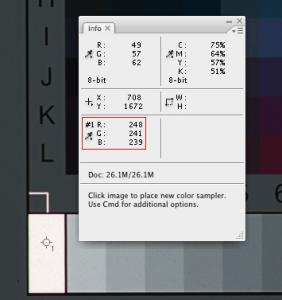 Greyscale chart - Box 0